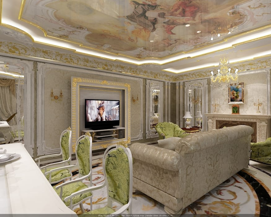Salon de style  par Студия дизайна Натали Хованской, Classique