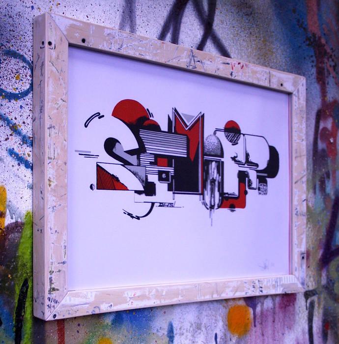 Upcycling Skateframes - Bilderrahmen aus verschlissenen Skateboards von Colourform Rustikal