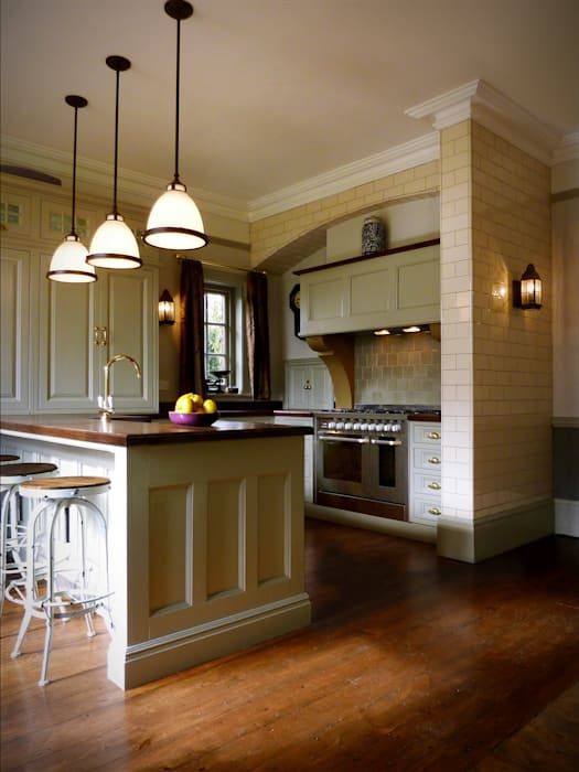 Kitchen renovation - cooking area:  Kitchen by The Victorian Emporium,