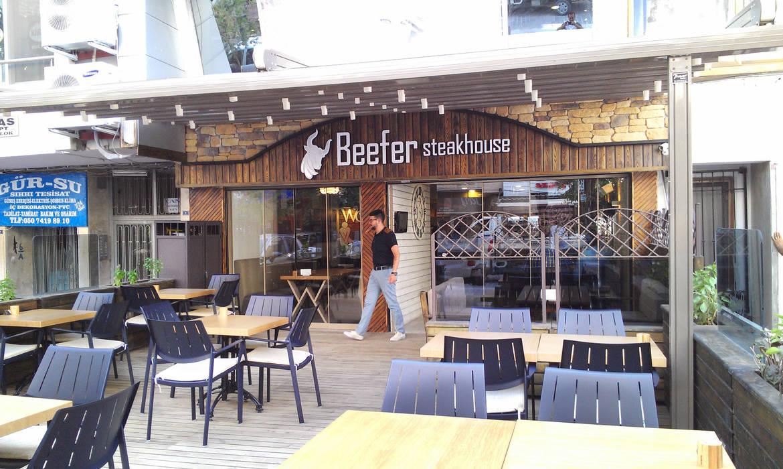 Emre Urasoğlu İç Mimarlık Tasarım Ltd.Şti. – Beefer Steak House :  tarz Teras, Modern