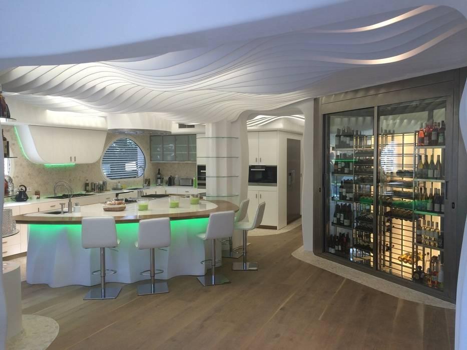 COCINA - DESPÚES: Cocinas de estilo moderno de EXA4 AEC Soft & Services