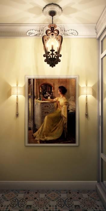 Pasillos, vestíbulos y escaleras de estilo ecléctico de Marina Sarkisyan Ecléctico