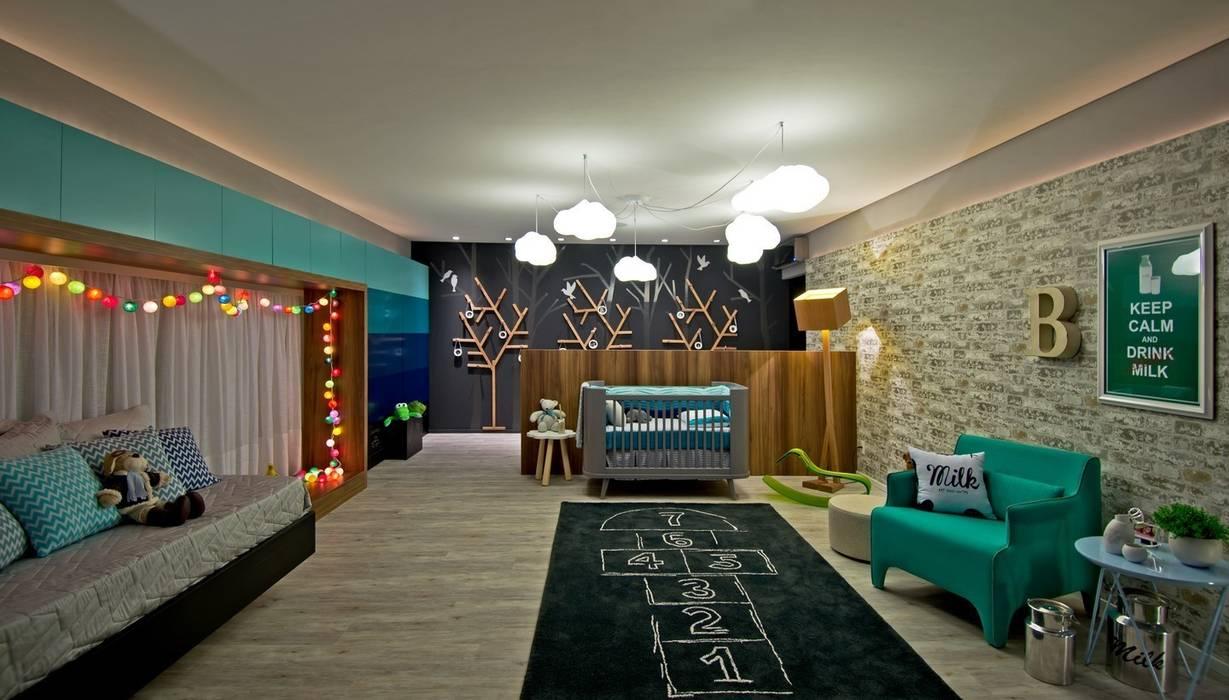 Nursery/kid's room by Espaço do Traço arquitetura,