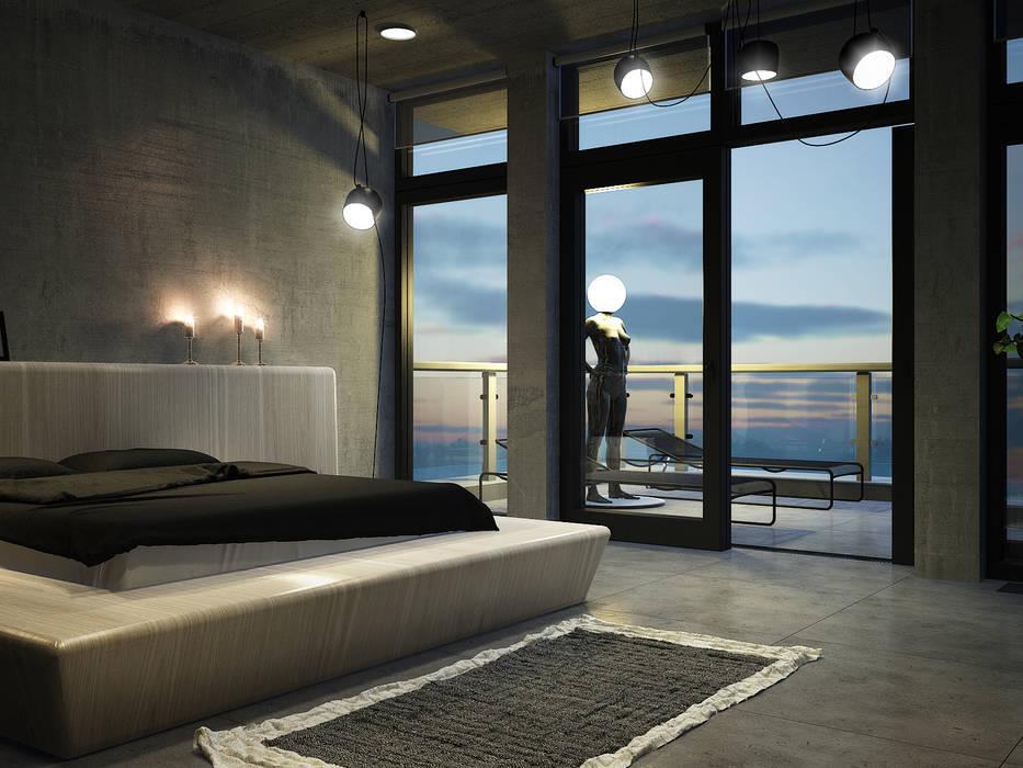 Industrial style bedroom by Виталий Юров Industrial