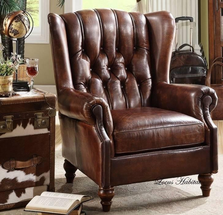 Classic Leather Armchair Locus Habitat SalonesSofás y sillones
