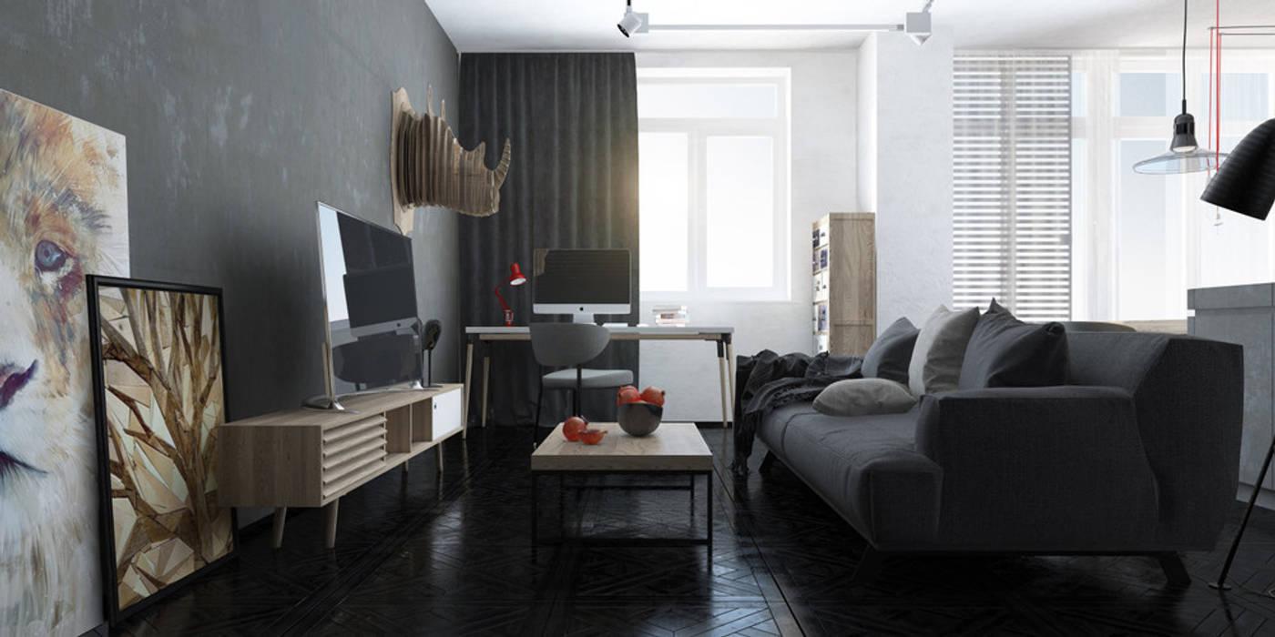 студия 7 Гостиная в стиле лофт от Tatiana Shishkina Лофт