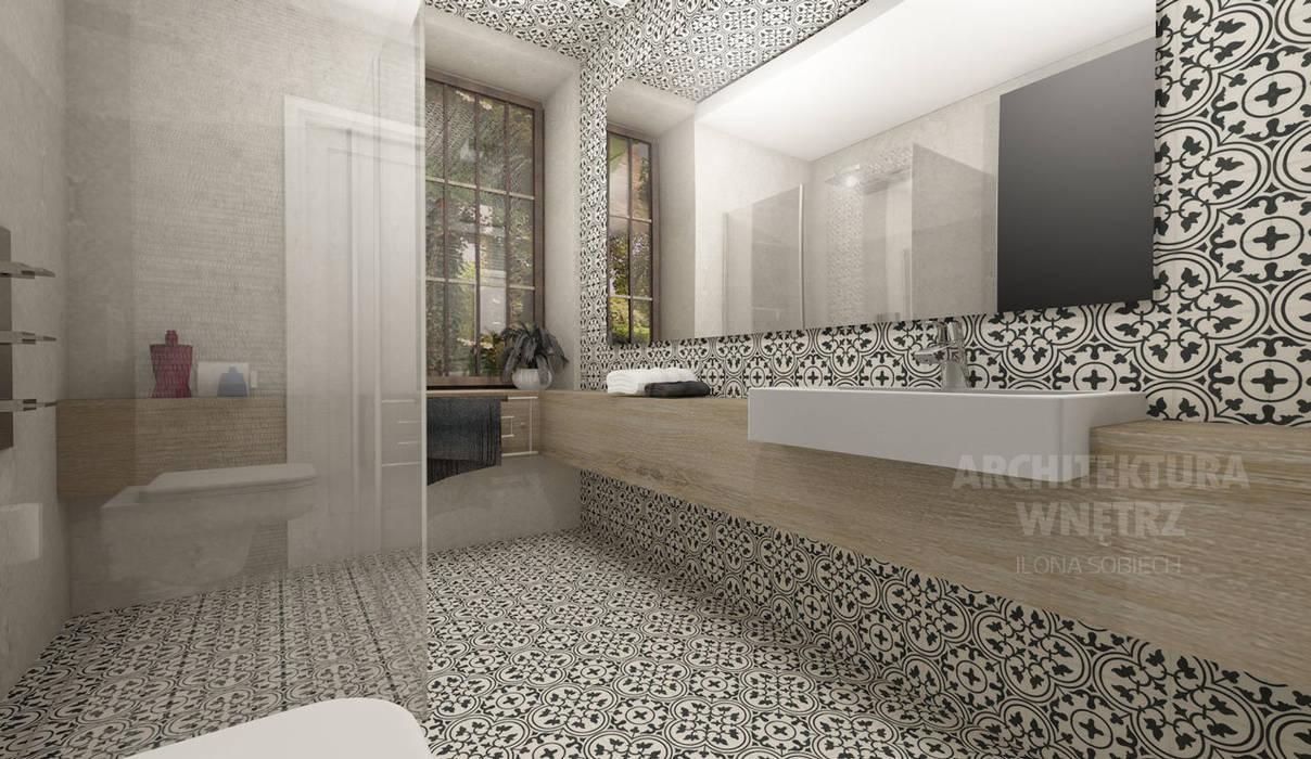 Proejkt łazienki http://ilonasobiech.pl Nowoczesna łazienka od Architekt wnętrz Ilona Sobiech Nowoczesny