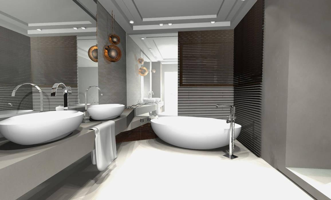 Projekt mieszkania Warszawa Minimalistyczna łazienka od Architekt wnętrz Ilona Sobiech Minimalistyczny