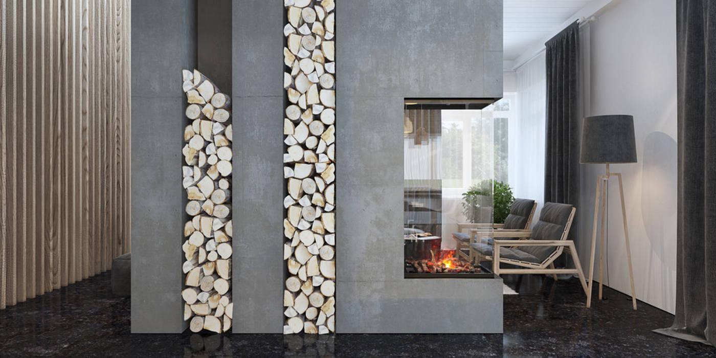 камин Гостиная в стиле минимализм от Tatiana Shishkina Минимализм