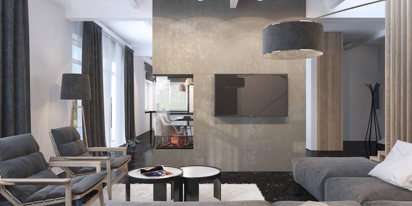 каминная зона Гостиная в стиле минимализм от Tatiana Shishkina Минимализм