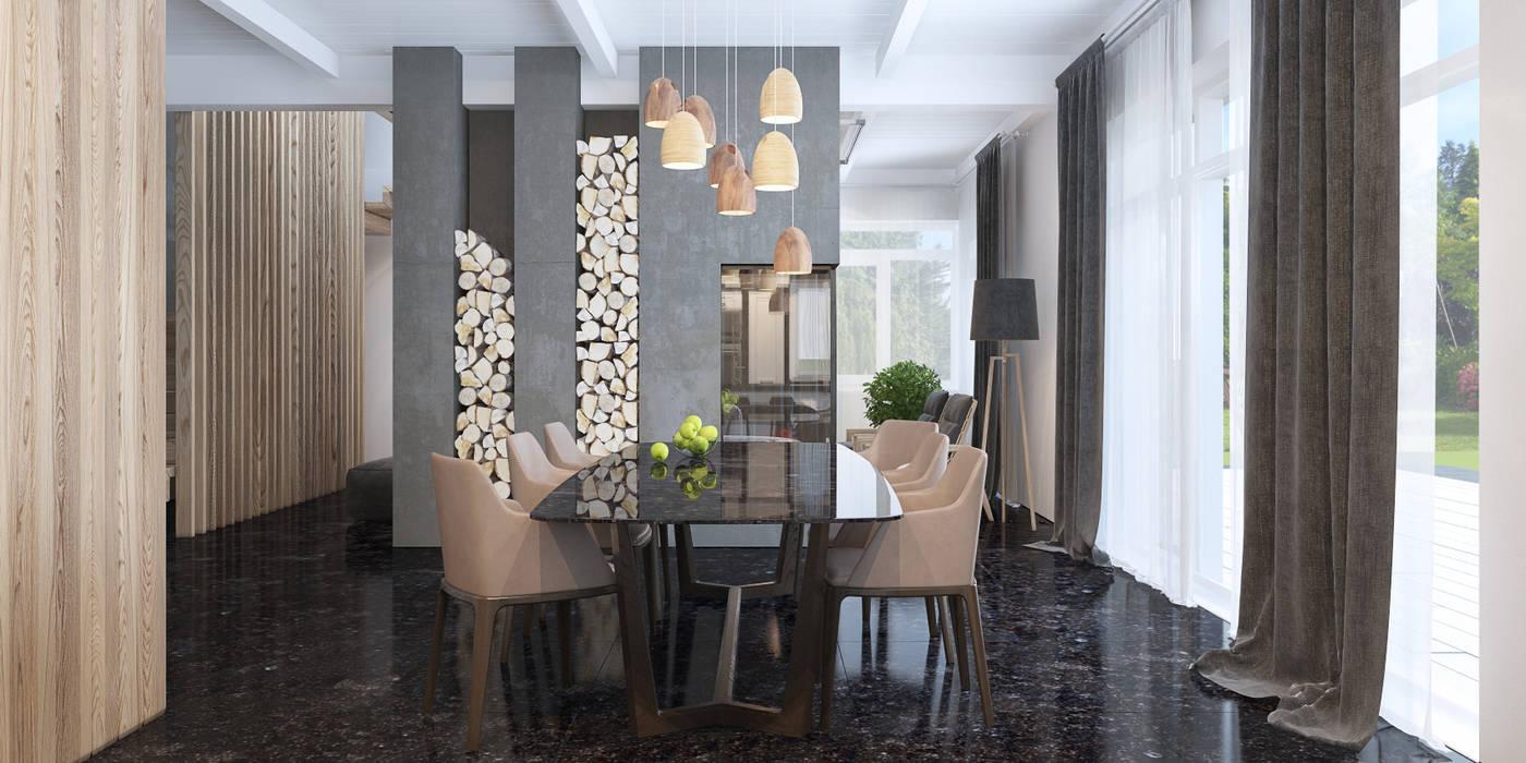 столовая: Столовые комнаты в . Автор – INROOM