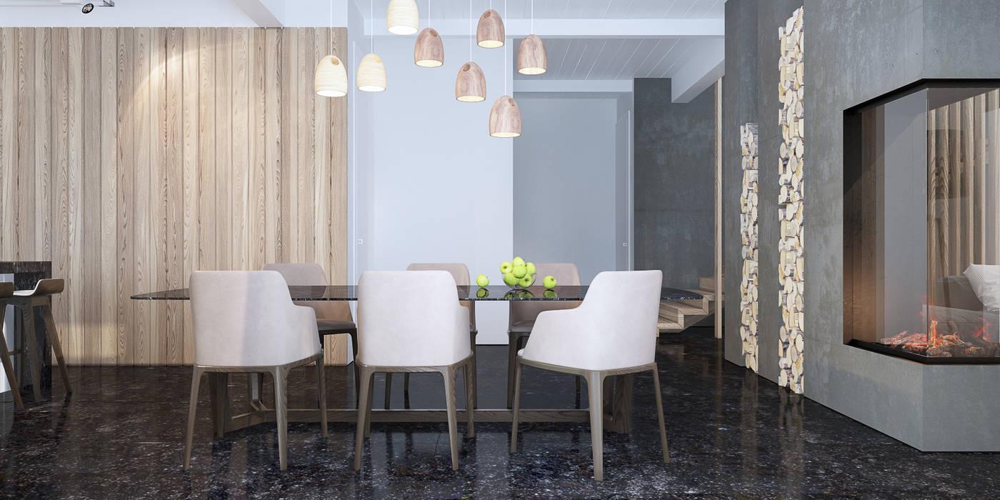 столовая 2 Столовая комната в стиле минимализм от Tatiana Shishkina Минимализм
