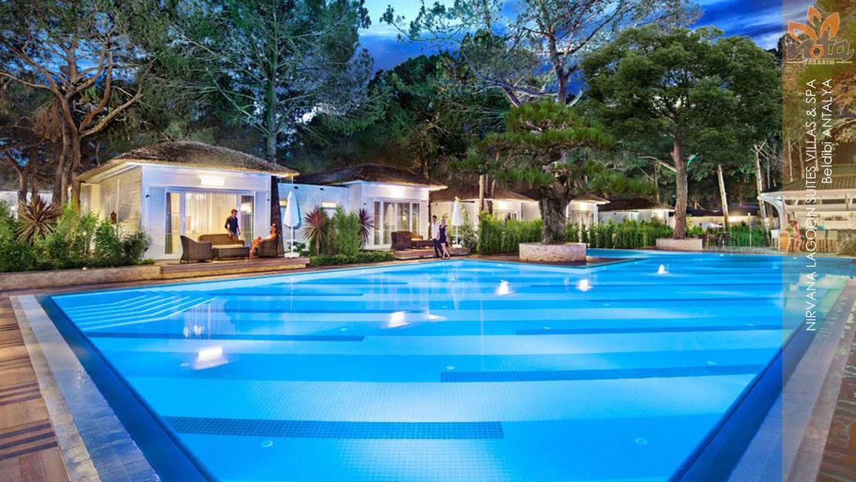 Nota Tasarım Peyzaj Mimarlığı Ofisi – Lagoon Villas:  tarz Bahçe