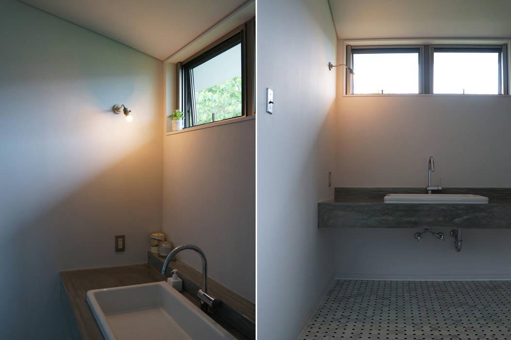 N-house さくま建築設計事務所 インダストリアルスタイルの お風呂