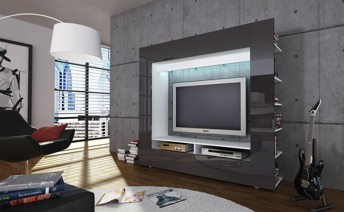 MEDIA STAR  : styl , w kategorii Salon zaprojektowany przez mebel4u