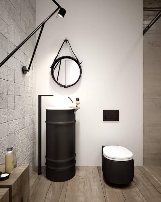 GN İÇ MİMARLIK OFİSİ – Banyo Dekorasyonu:  tarz Banyo, Modern