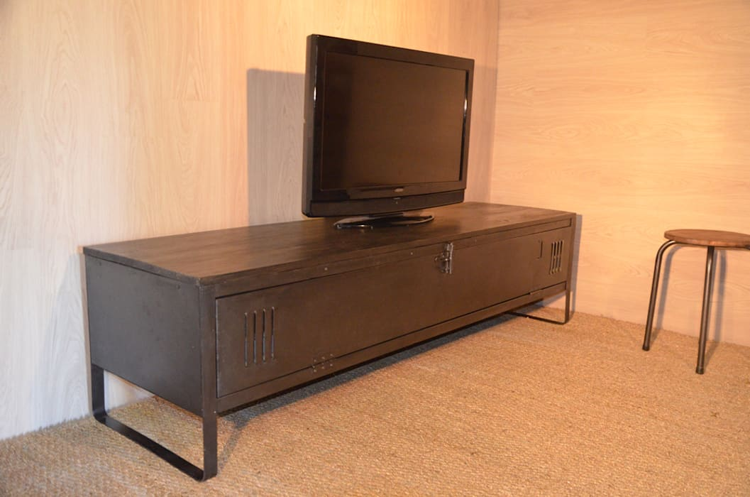 meuble tv indus cr ation hewel mobilier salon de style. Black Bedroom Furniture Sets. Home Design Ideas