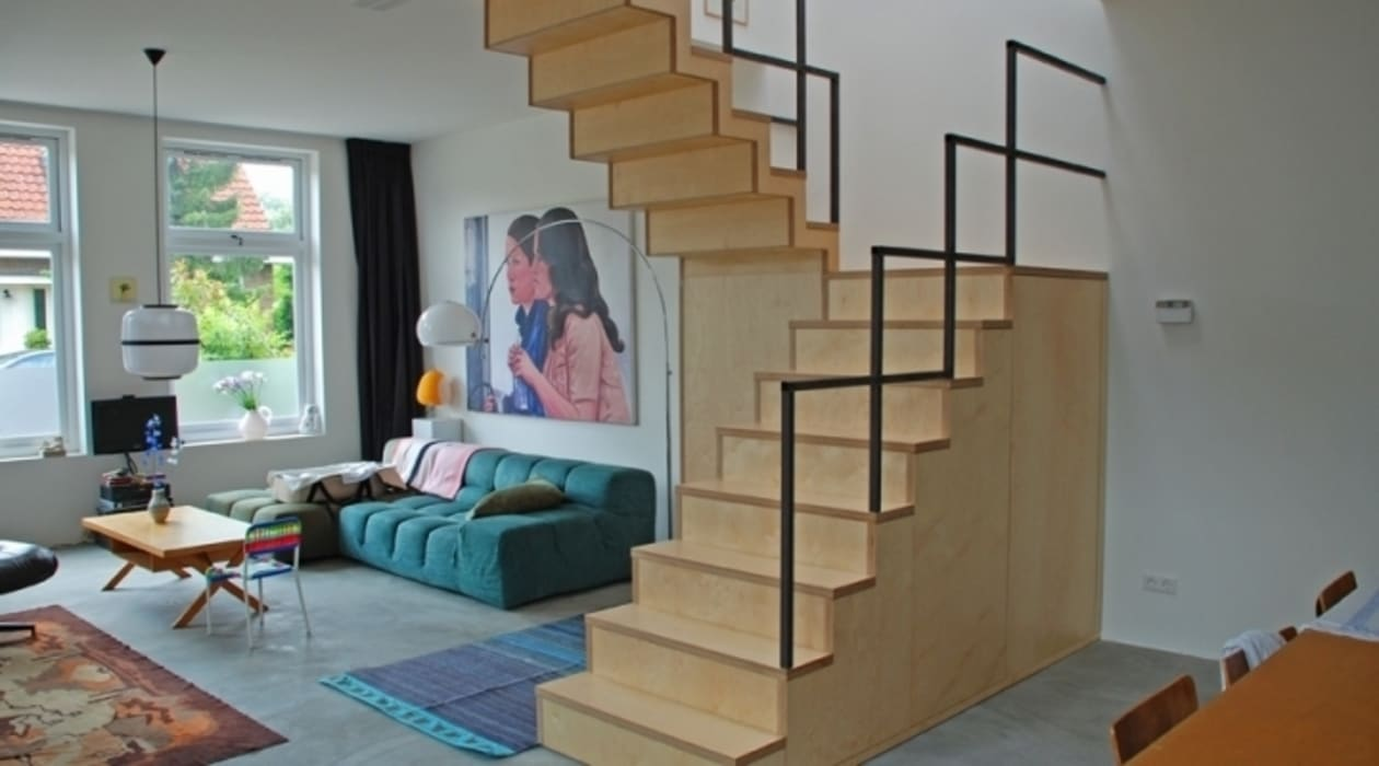 Industrial style corridor, hallway and stairs by Blok Meubel Industrial