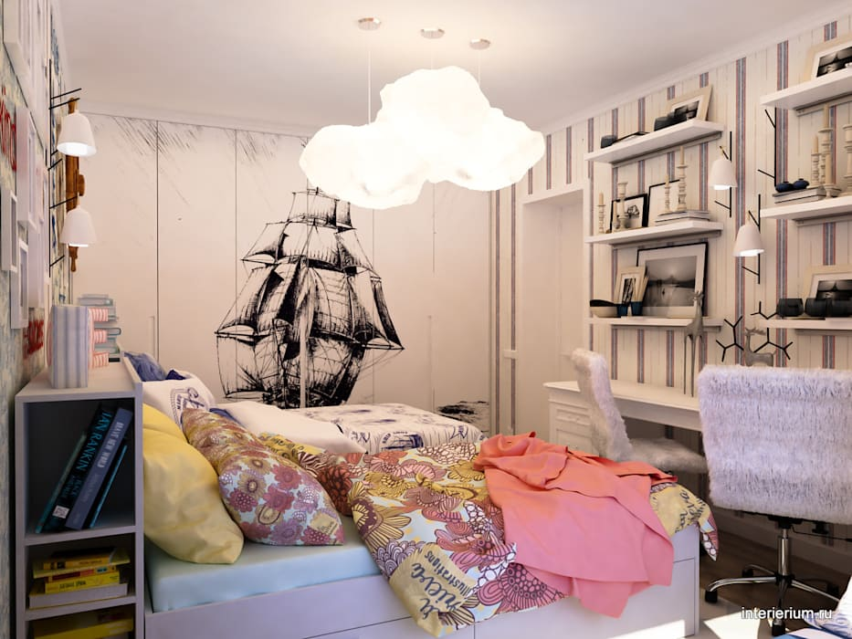 Mediterranean style nursery/kids room by INTERIERIUM Mediterranean