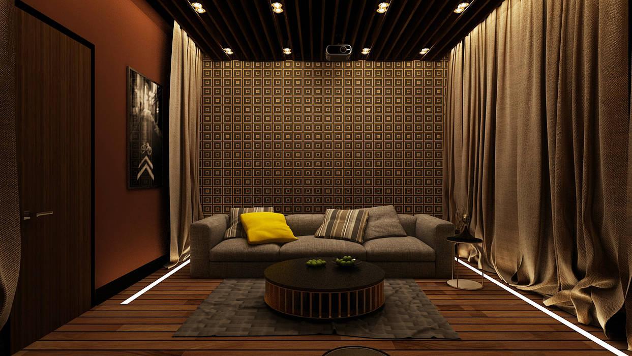 Ruang Media Minimalis Oleh Apolonov Interiors Minimalis