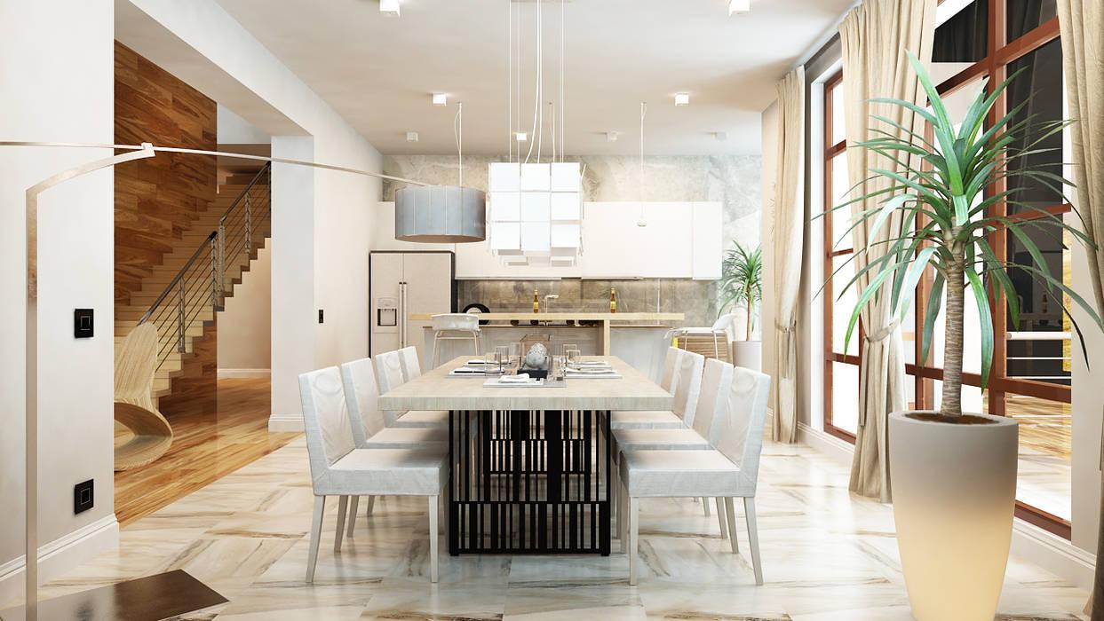 Cocinas de estilo minimalista de Apolonov Interiors Minimalista