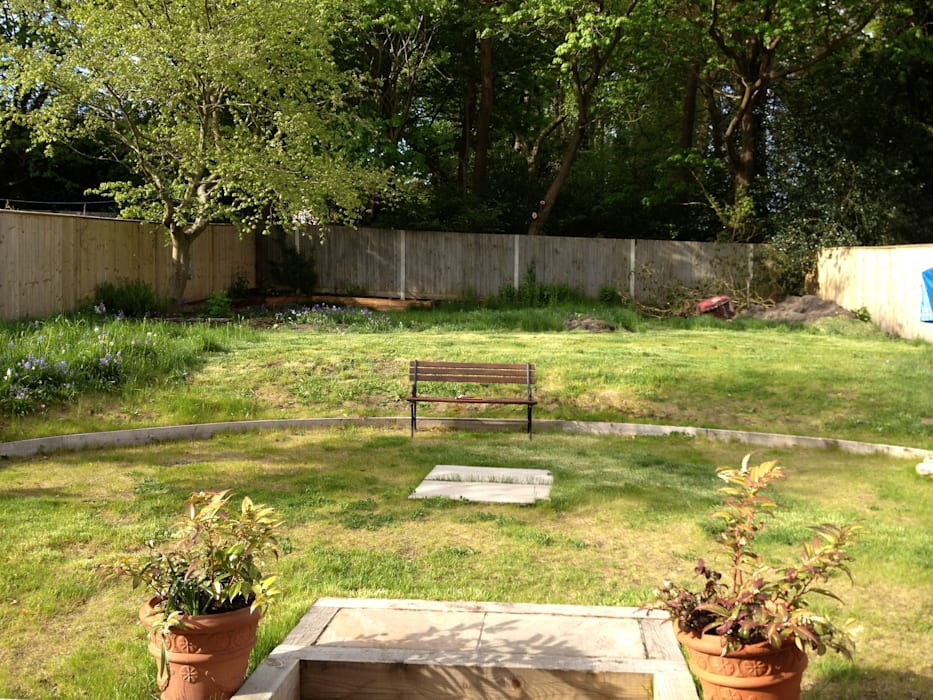 Before work began Country style garden by Roeder Landscape Design Ltd Country