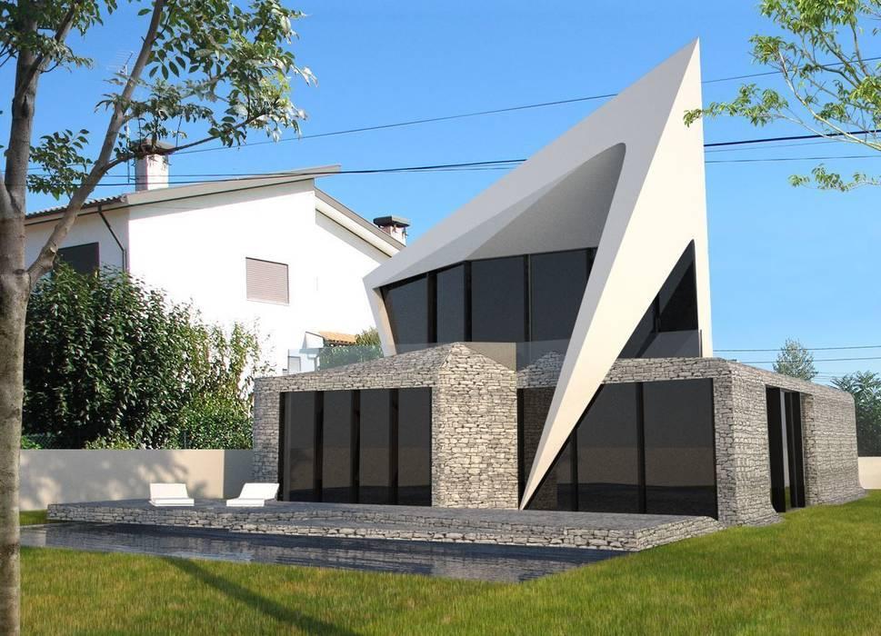 Habitação Unifamiliar Isolada T4 - o Tempo e a Sensação Casas modernas por Office of Feeling Architecture, Lda Moderno