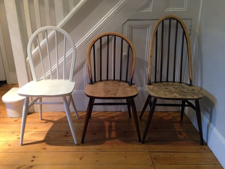 Ercol painted chairs by homify