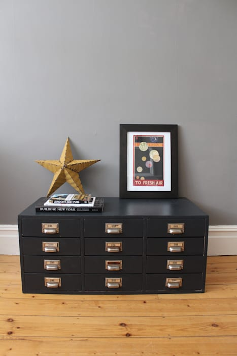 Mid century bank of drawers: industrial  by Owl and the Elephant, Industrial