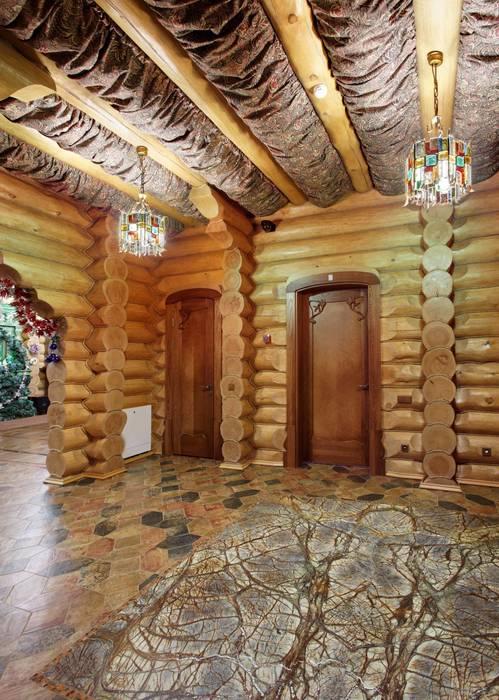Дом в деревне Коридор, прихожая и лестница в стиле кантри от homify Кантри