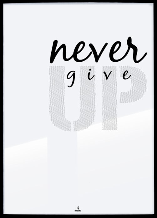 NEVER GIVE UP: styl , w kategorii Ściany i podłogi zaprojektowany przez MSP Sp. z o.o.,