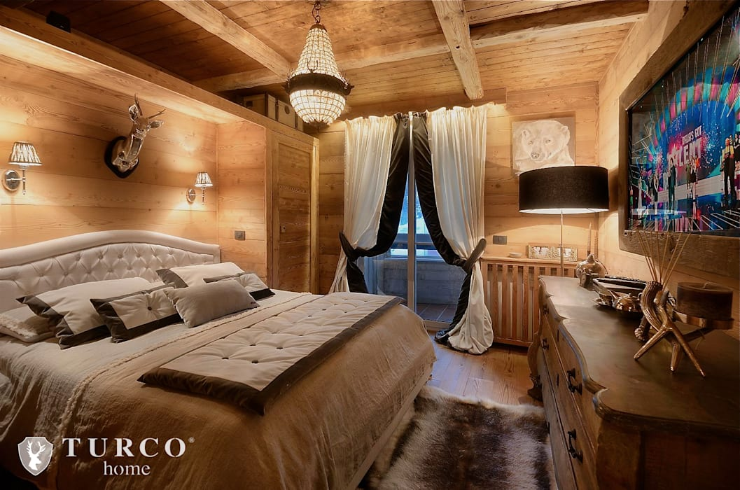 Chalet camera da letto in stile di turco home srl homify - Camera da letto rustica moderna ...