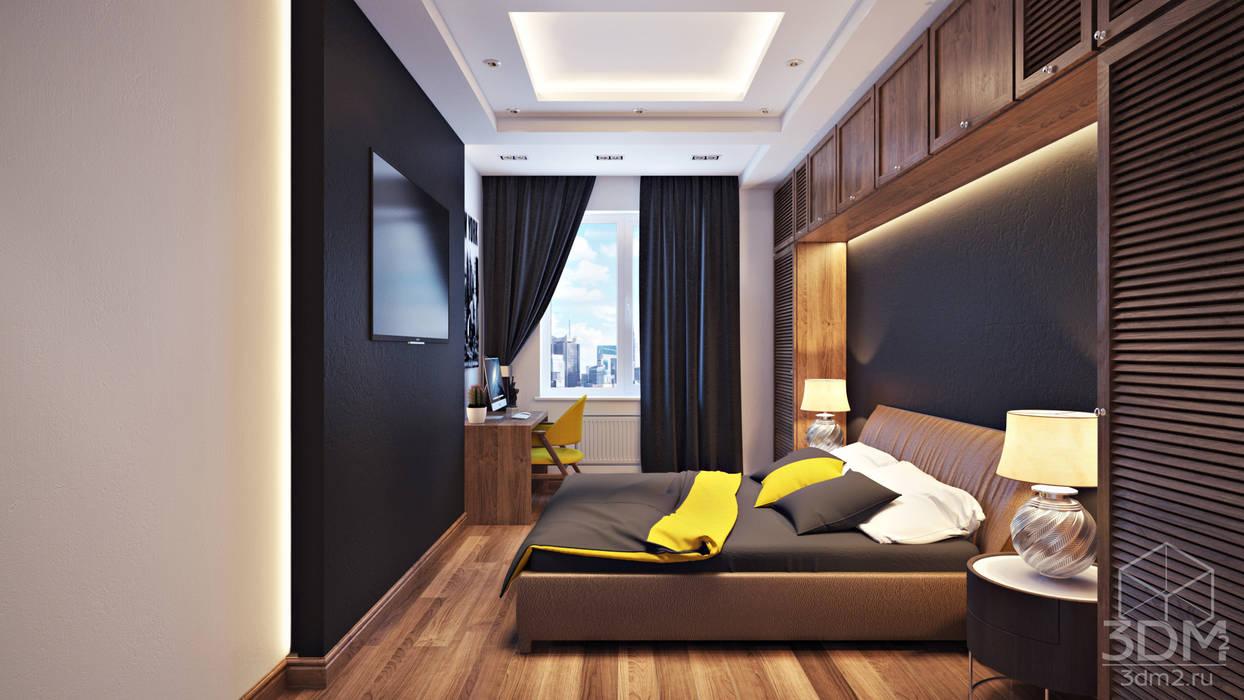 07 Спальня в стиле минимализм от студия визуализации и дизайна интерьера '3dm2' Минимализм