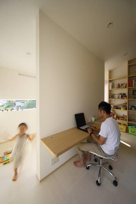 スタディコーナー モダンデザインの 書斎 の ARCHIXXX眞野サトル建築デザイン室 モダン