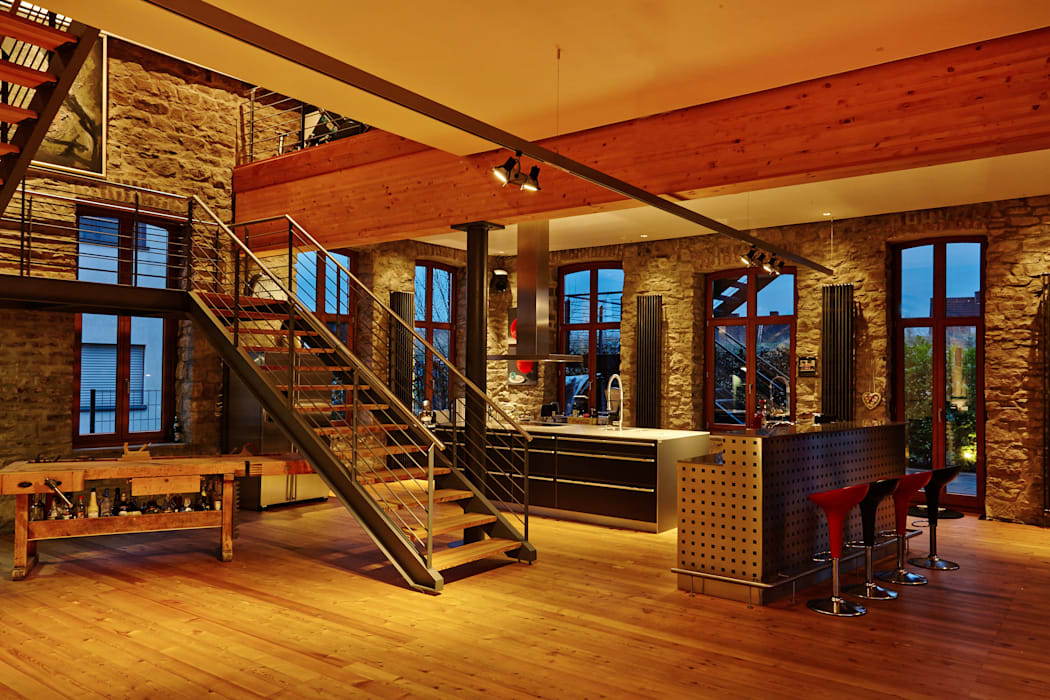 Industrial style kitchen by guido anacker photographie Industrial