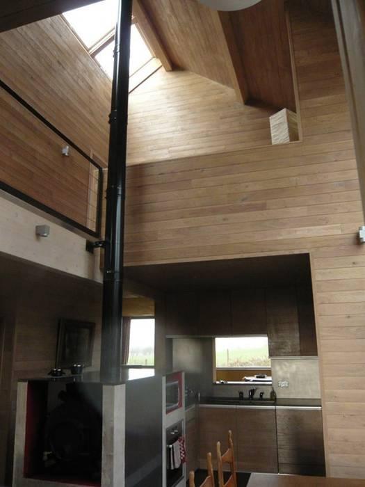 Cuisine & mezzanine Cuisine moderne par Atelier d'architecture François Misonne Moderne