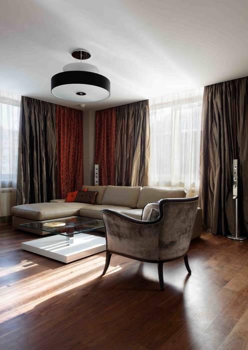 Московская квартира в облаках. Гостиная в стиле минимализм от homify Минимализм
