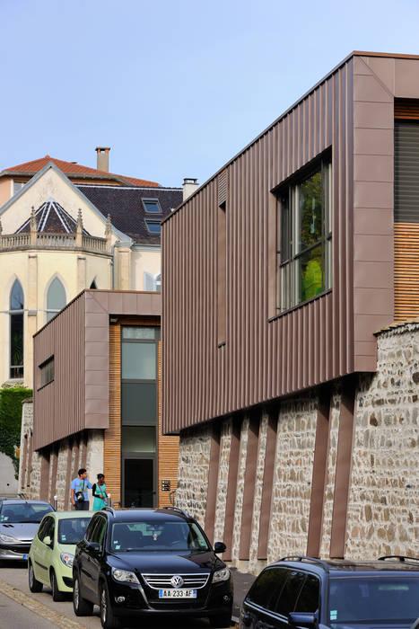 """""""Le Méridien"""" à Sainte-Foy-les-Lyon : détail façade Centre d'expositions originaux par stephanie.zawada Éclectique"""