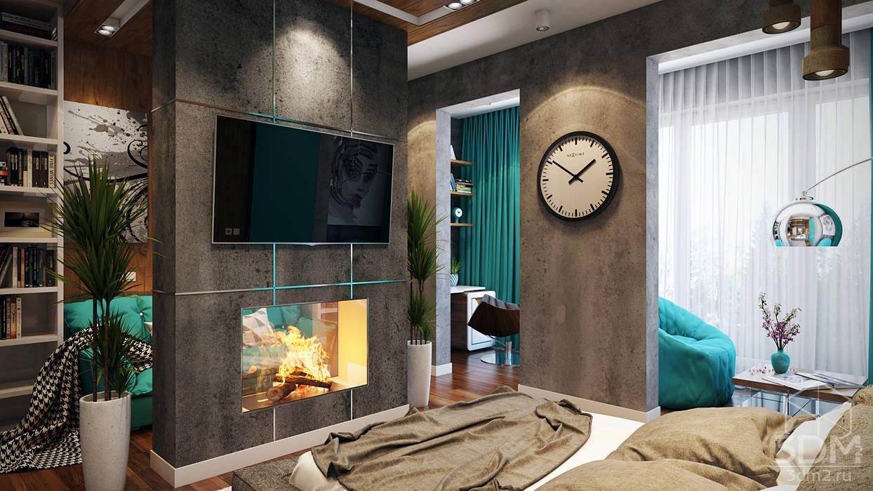 02 Спальня в стиле лофт от студия визуализации и дизайна интерьера '3dm2' Лофт