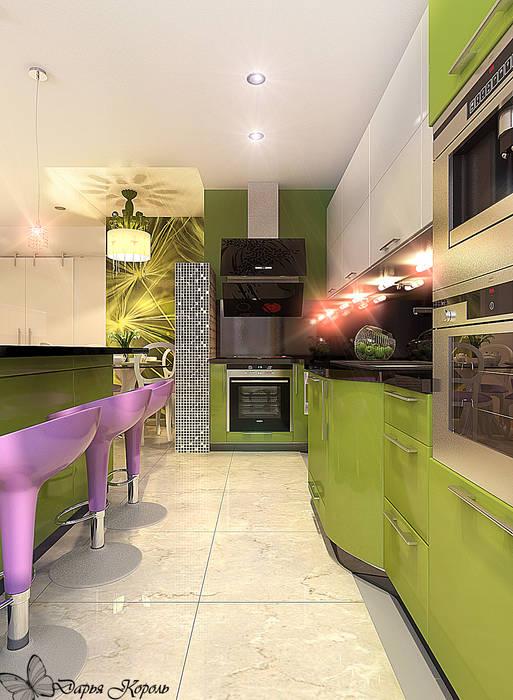 Кухня-гостиная Яблоко Кухня в стиле минимализм от Your royal design Минимализм