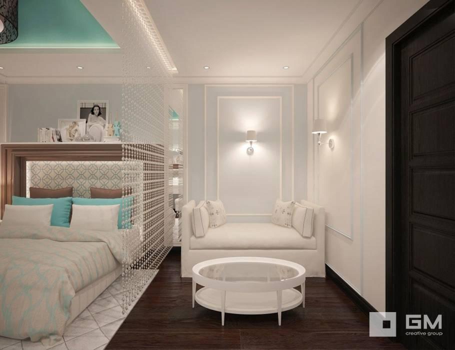 3-х комнатная квартира на ул. Абрамцевская Спальня в эклектичном стиле от GM-interior Эклектичный