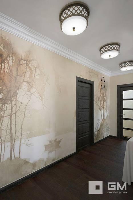 3-х комнатная квартира на ул. Абрамцевская Коридор, прихожая и лестница в эклектичном стиле от GM-interior Эклектичный