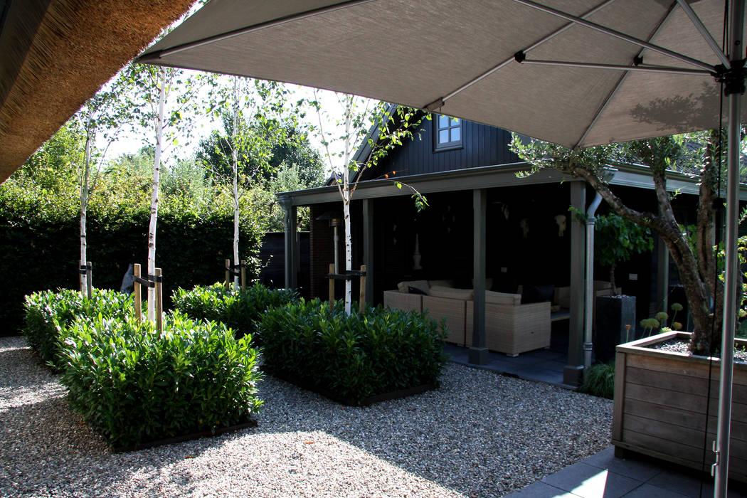 Overdekt terras u modern landhuis te vinkeveen terras door