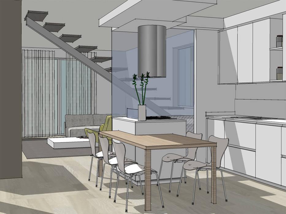 Moderno focolare: cucina in stile di forme per interni   homify