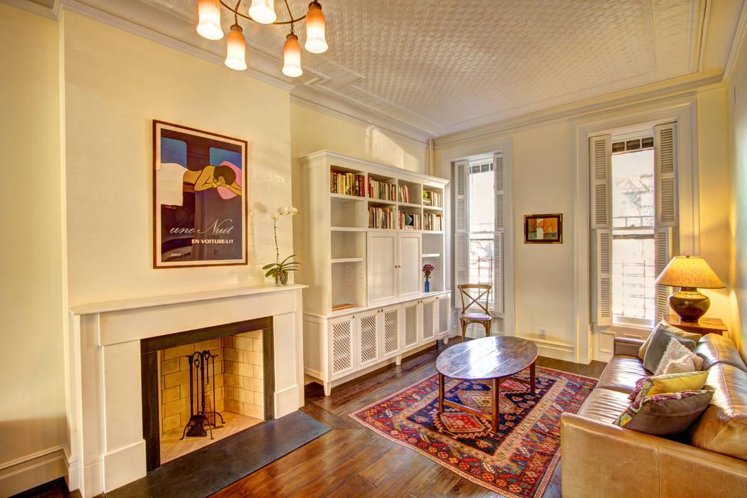 Park Slope Brownstone Salas de estar coloniais por Ben Herzog Architect Colonial