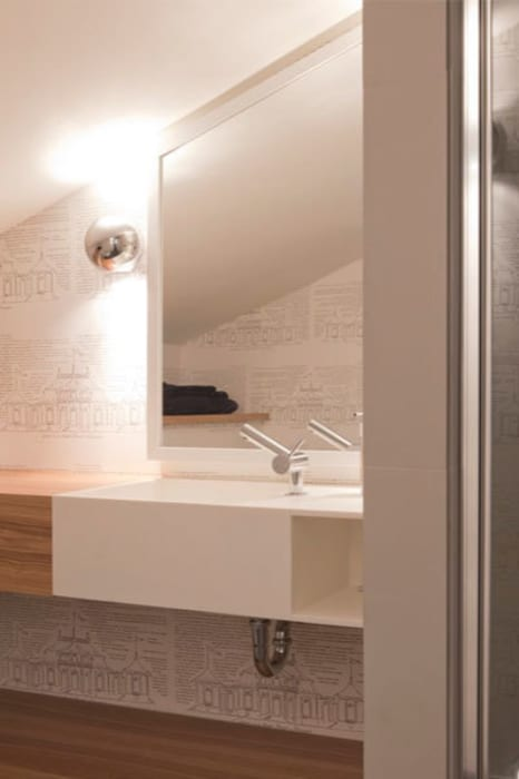 Proyecto de decoracion y ejecución de vivienda con terraza en Loiu (Vizcaya), por Sube Susaeta Interiorismo Baños de estilo moderno de Sube Susaeta Interiorismo Moderno