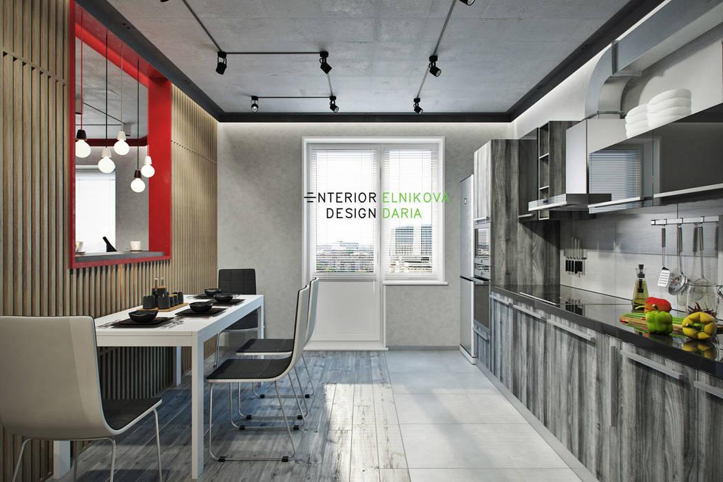 Cuisine industrielle par Студия архитектуры и дизайна Дарьи Ельниковой Industriel