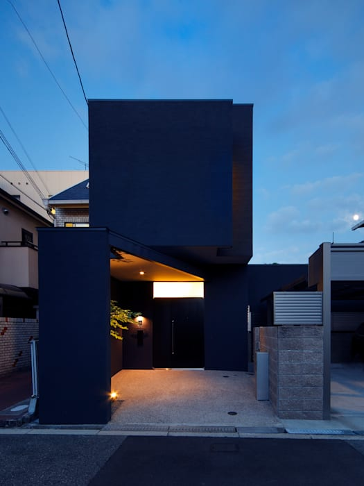 oriono no ie 一級建築士事務所アトリエm Modern home Black