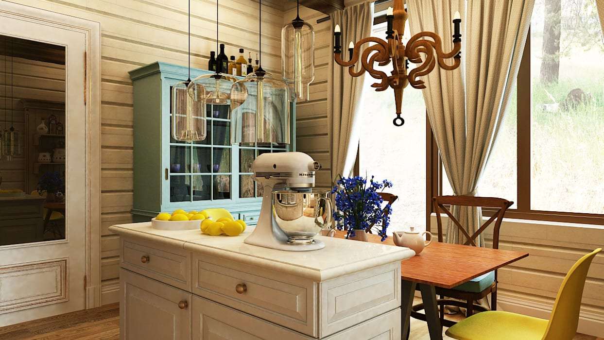 Eclectic style kitchen by Apolonov Interiors Eclectic