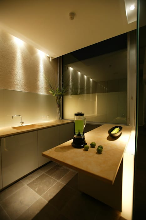 Kitchen Minimalist kitchen by Elektra Lighting Design Minimalist